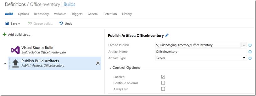 build-publish-settings