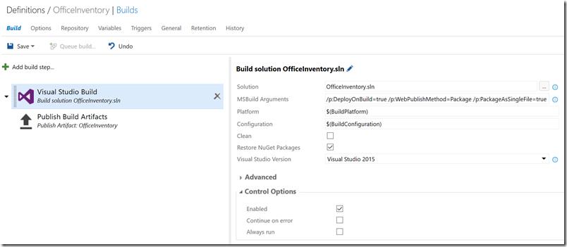 build-vs-settings