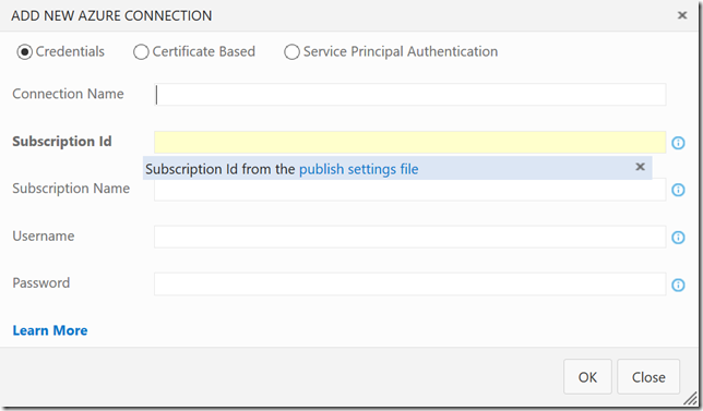 release-add-azure-connection